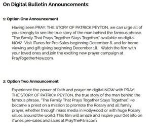 Bulletin Announcements image