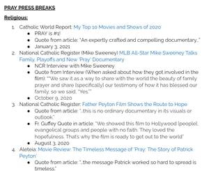 Image PRAY Press Breaks