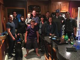 McEntee family group photo in kitchen for PRAY doc 3-1