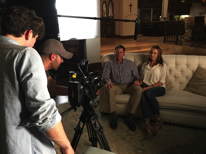 PRAY doc crew filming Mike and Shara Sweeney family 1-1